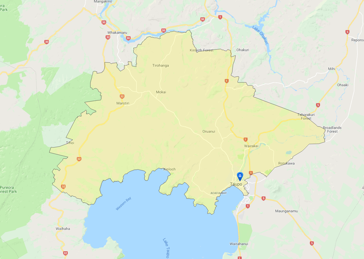 Taupo Zoning Map