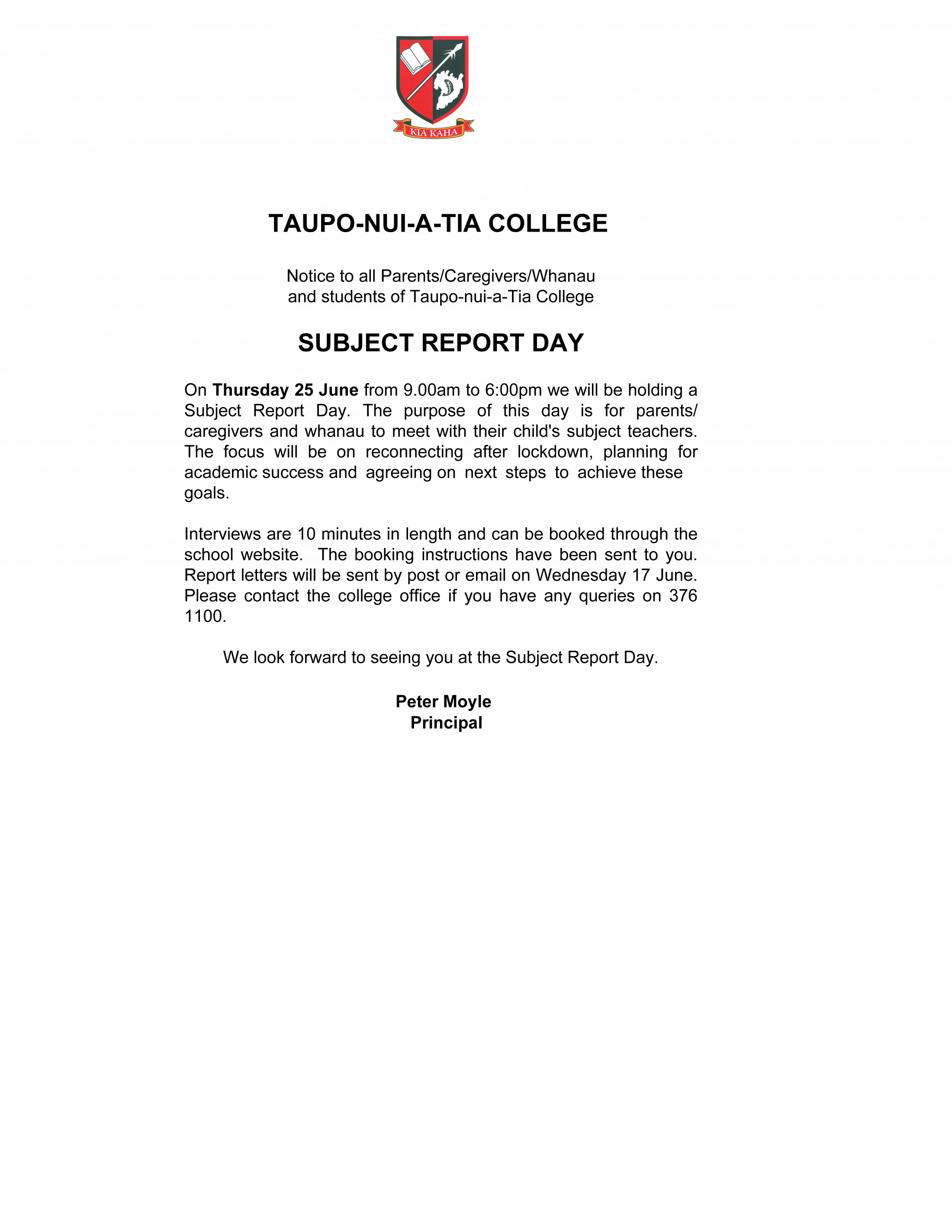 Subject Report Day