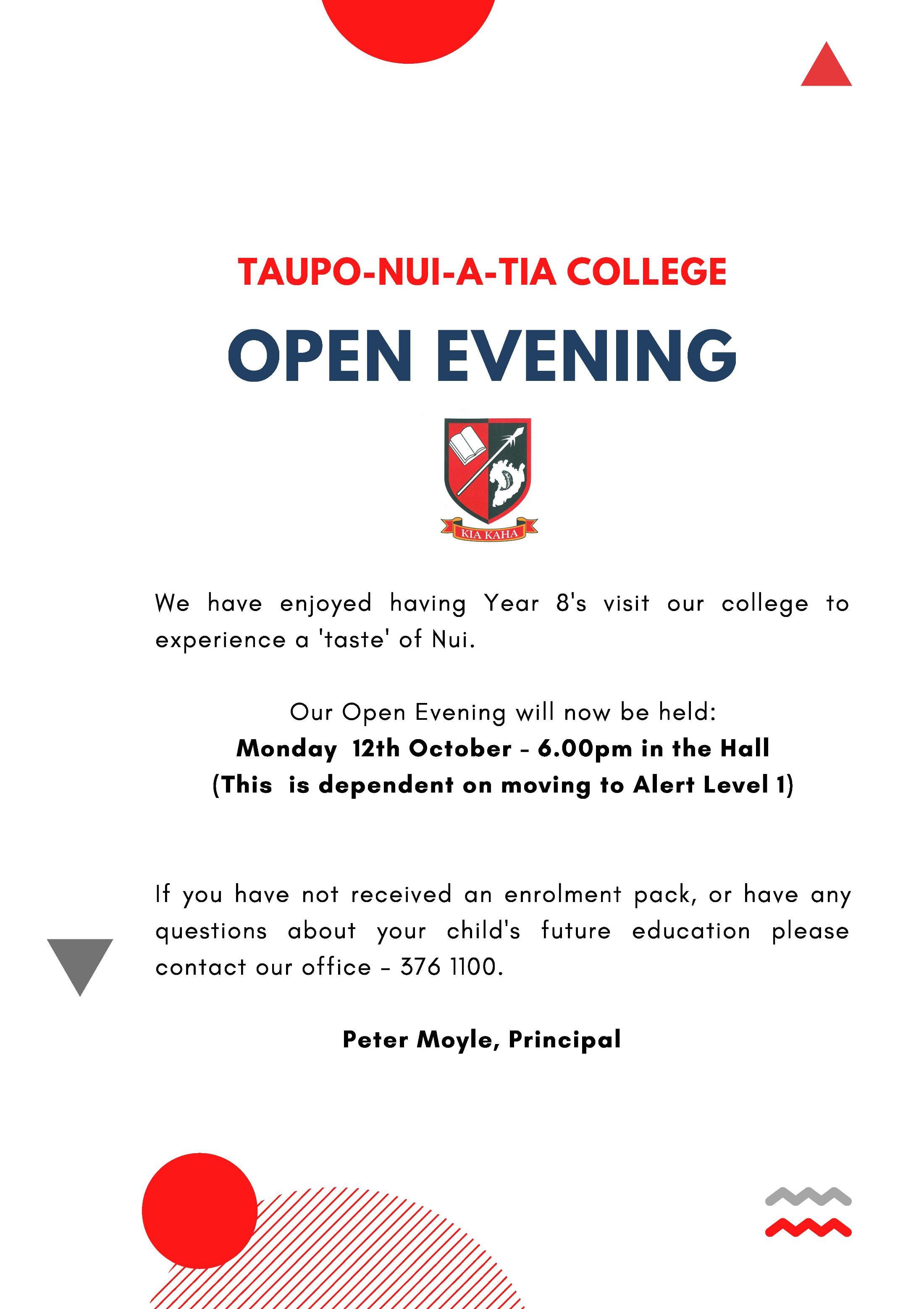 New Opening Evening October
