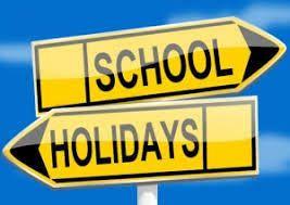 Happy Holidays - Term 2 starts Monday 3 May