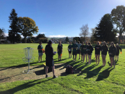 Year 10s learn to play Disc Golf!