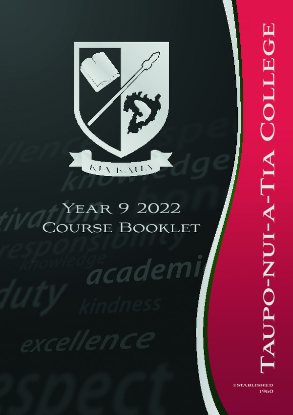 Year 9 Course Booklet 2022